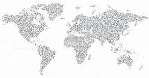 Carte Du Monde Noir : r seau de carte du monde noir et blanc cliparts ~ Teatrodelosmanantiales.com Idées de Décoration