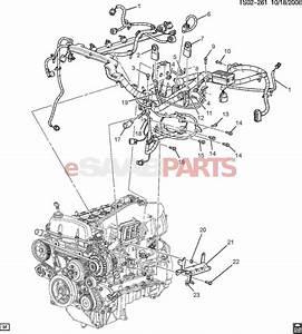 15008622  Saab Bracket  Engine Wiring Harness Clip