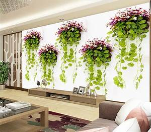 Natural scenery Photo Wallpaper green plants Wall Mural 3D ...
