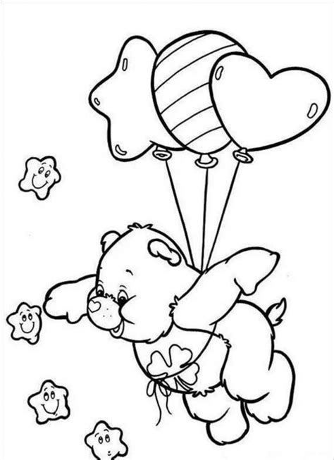 printable care bear coloring pages  kids