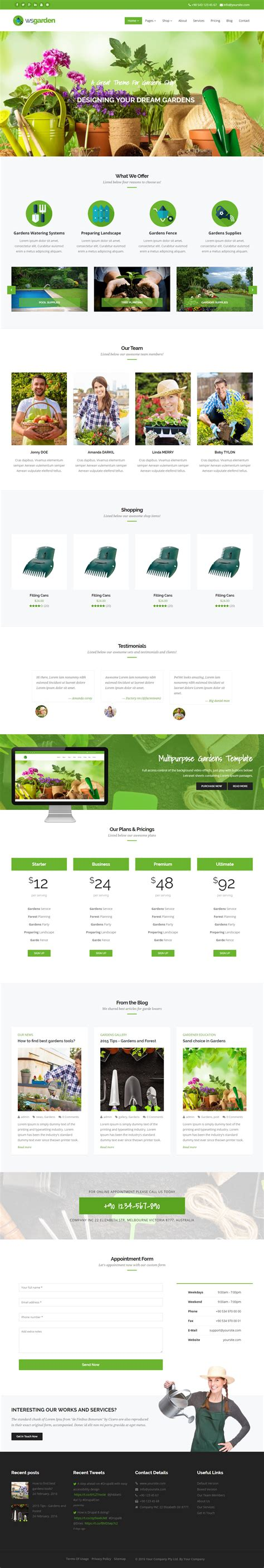 bootstrap template gardening best responsive drupal garden themes 2016 responsive miracle