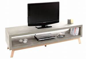 Meuble Tv Effet Beton : banc tv beton fly table de lit ~ Teatrodelosmanantiales.com Idées de Décoration