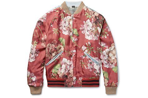 fleece bomber jacket gucci reversible floral silk bomber ballerstatus