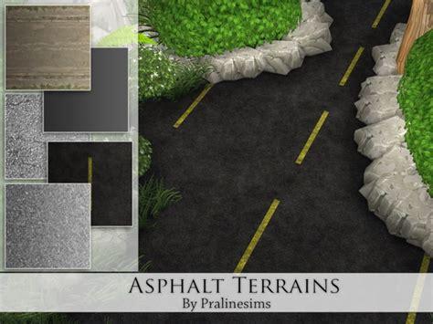 asphalt terrains  pralinesims  tsr sims  updates
