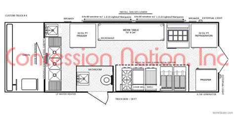 simple mobile plan floorplans food trucks fast food truck mobile kitchens