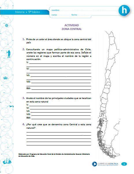 Zona Central Curriculum Nacional MINEDUC Chile