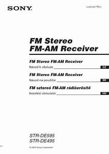 Sony Str De495 Receiver Download Manual For Free Now