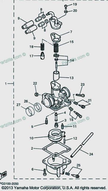yamaha pw50 carburetor diagram schematic yamaha old bikes list