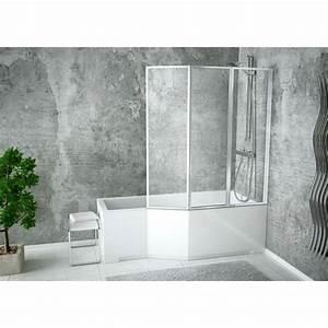 Pare Baignoire 60 Cm : baignoire integra 150 ou 170 cm avec pare baignoire ~ Dailycaller-alerts.com Idées de Décoration