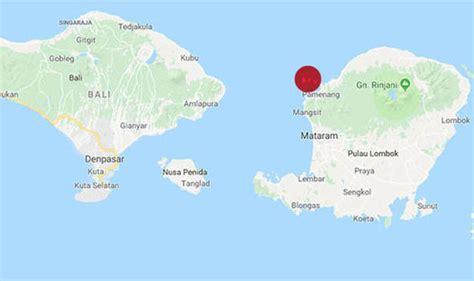 bali earthquake map    gili islands