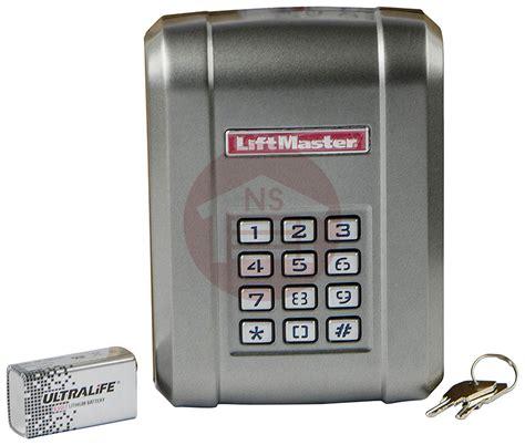 garage door opener keypad liftmaster kpw5 garage door opener gate wireless keypad