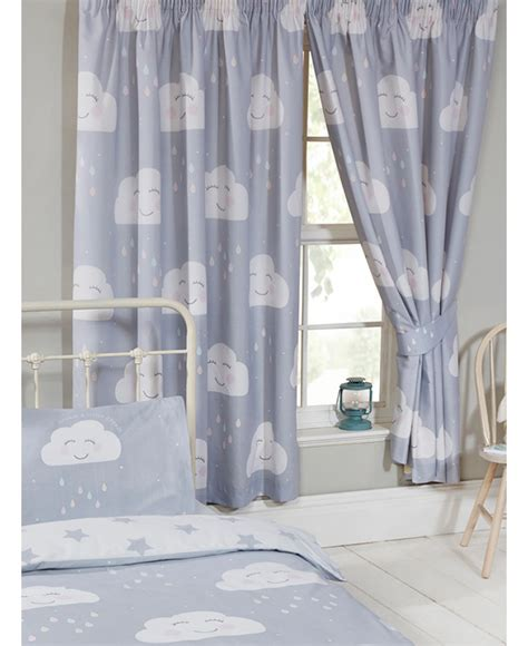 happy clouds lined curtains grey bedroom curtains