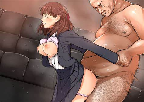 Filthy Japanese Pervert In Leotard Pigtails Old Thai Guy Hentai 02