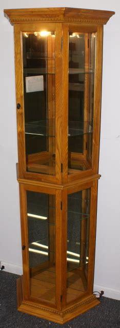 oak curio cabinets for oak pulaski furniture lighted curio cabinet