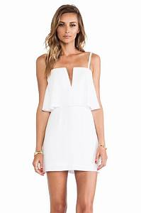 Bcbgmaxazria Kate Strapless Mini Dress in White | Lyst