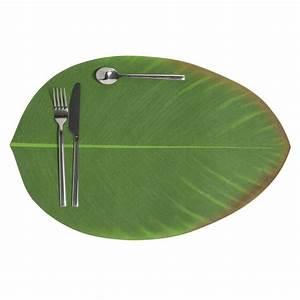 Sets De Table Originaux : set de table feuille verte 31 x 47 cm bananier maisons ~ Voncanada.com Idées de Décoration