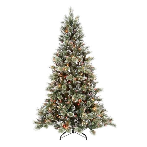 holiday living 7 ft denver pine tree martha stewart living 7 5 ft pre lit sparkling pine artificial tree with multi color
