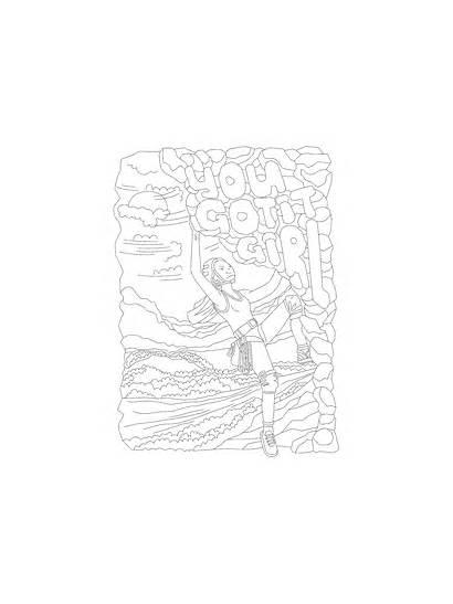 Coloring Strong Printable Brave Climbing Zen Colouring