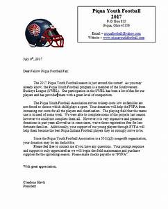 piqua youth football association the purpose of this With youth football donation request letter