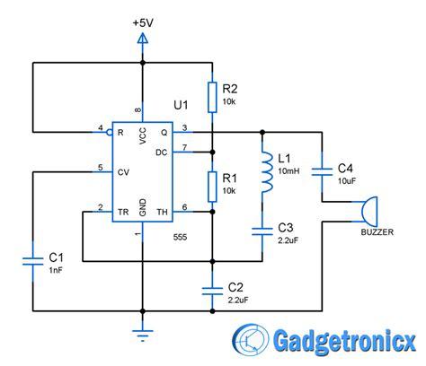 Metal Detector Circuit Using Gadgetronicx