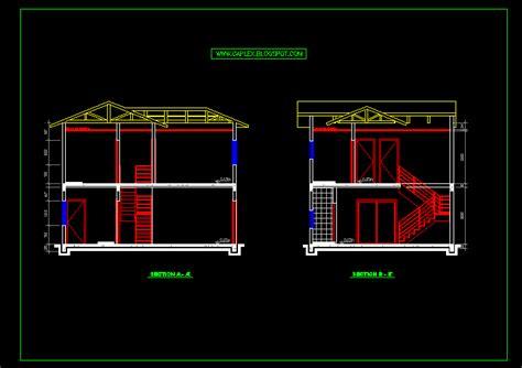 desain rumah minimalis format autocad rumah xy