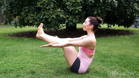 Boat Pose Holding Toes by 5 Poses To Improve Your Balance