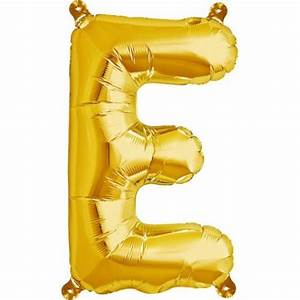 letter e foil balloon small foil balloons shindigscomau With small gold letter balloons