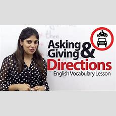 Asking & Giving Directions In English  English Vocabulary Lesson (esl) Youtube