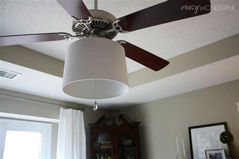 drum shade ceiling fan adding a drum shade to a ceiling fan crazy wonderful