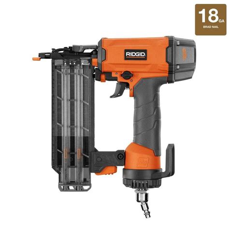 18 Floor Nailer Home Depot by Ridgid 2 1 8 In 18 Brad Nailer R213bne The Home Depot
