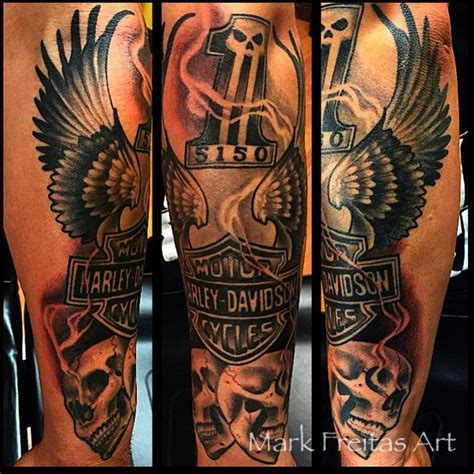 Cool Top 100 Harley Davidson Tattoos  4developcomua