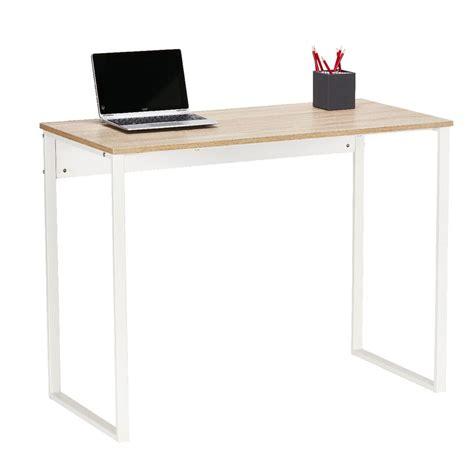 white desk with wooden legs floyd loop leg desk 1000mm white