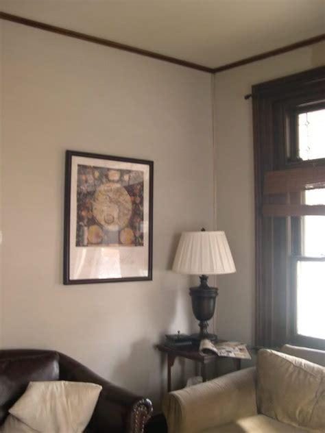 finally gray paint  dark wood trim   home