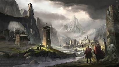 Viking Wallpapers Town Mountains Rocky