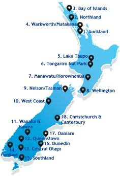 driving times  distances map   zealand aa