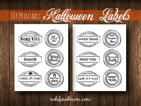 DIY Halloween Food Ideas With Printable Labels