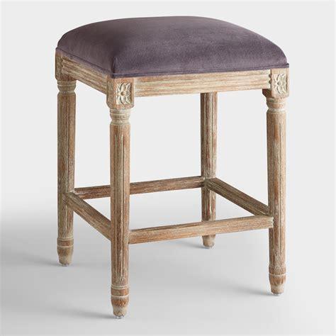 backless counter stools plum velvet backless counter stool world market 1419