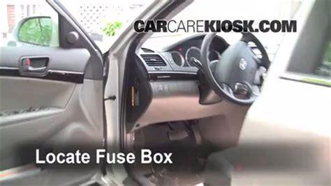 interior fuse box location   hyundai sonata