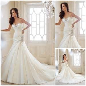 white lace wedding dress 2014 new design sweetheart white wedding dress with beaded back lace up mermaid bridal