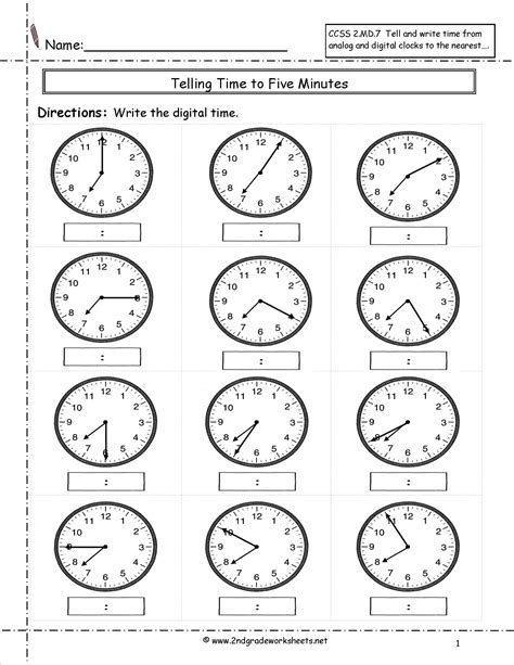 14 best images of 3rd grade worksheets clock time 4th