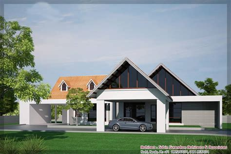 latest kerala house elevation   sqft