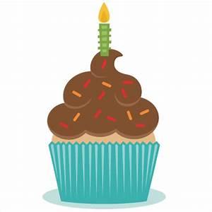 Birthday Cupcake SVG scrapbook cut file cute clipart files ...