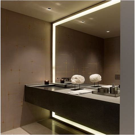 Large Modern Bathroom Mirrors by Ultra Large Bathroom Mirror In Lighted Frame Design