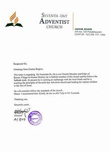 Retur Seventh Day Adventist Church  Confirmation Letters