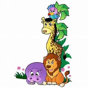 Stickers Animaux De La Jungle : sticker animaux de la jungle 1 stickersmania ~ Mglfilm.com Idées de Décoration