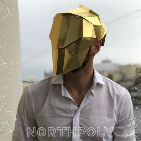 mask   future  papercraft mask   printable paper mask  polygon masks