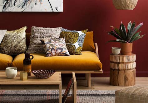quelles couleurs associer au jaune moutarde salon living room salons living