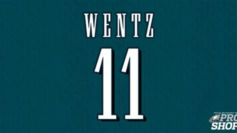 philadelphia eagles announce carson wentzs jersey number