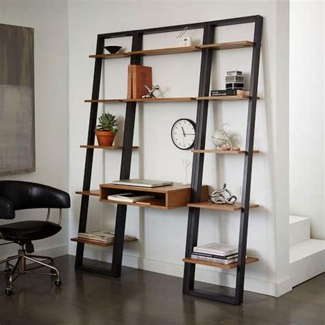 ladder book shelf ladder shelf desk narrow bookshelf set west elm