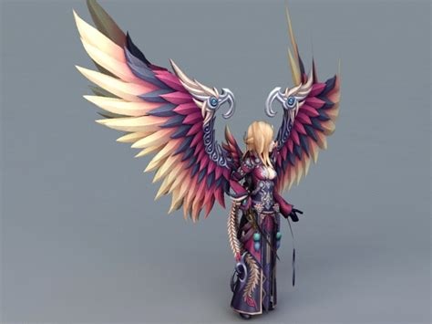 female warrior guardian angel  model ds max files